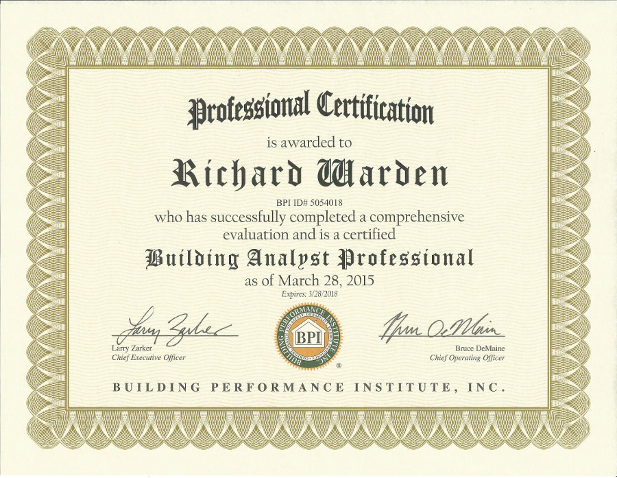 Degree & Certificates | Southold Home Inspections